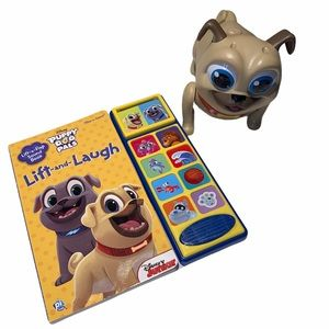 Other - Puppy Dog Pals lbook and walking rolly toy.